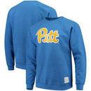 Pitt Panthers Original Retro Brand School Logo Tri-Blend Pullover Sweatshirt – Heathered Royal