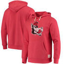NC State Wolfpack Original Retro Brand School Logo Tri-Blend Hoodie - Red