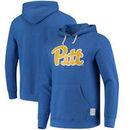 Pitt Panthers Original Retro Brand School Logo Tri-Blend Hoodie - Royal