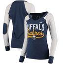 Buffalo Sabres adidas Women's Elbow Patch Long Sleeve V-Neck T-Shirt – Navy