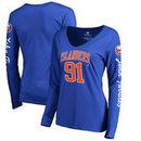John Tavares New York Islanders Fanatics Branded Women's Heartthrob Name & Number Long Sleeve V-Neck T-Shirt - Royal
