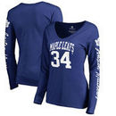 Auston Matthews Toronto Maple Leafs Fanatics Branded Women's Heartthrob Name & Number Long Sleeve V-Neck T-Shirt - Blue