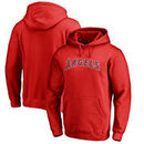 Los Angeles Angels Fanatics Branded Wordmark Big and Tall Pullover Hoodie - Red