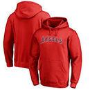 Los Angeles Angels Fanatics Branded Team Wordmark Pullover Hoodie - Red