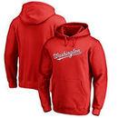 Washington Nationals Fanatics Branded Team Wordmark Pullover Hoodie - Red