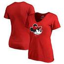 Philadelphia Phillies Fanatics Branded Women's Disney Game Face V-Neck T-Shirt - Red