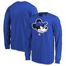 Texas Rangers Fanatics Branded Youth Disney Game Face Long Sleeve T-Shirt - Royal