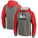 Los Angeles Angels Fanatics Branded Disney Rally Cry Tri-Blend Raglan Pullover Hoodie - Ash