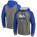 Los Angeles Dodgers Fanatics Branded Disney Rally Cry Tri-Blend Raglan Pullover Hoodie - Ash