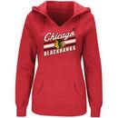 Chicago Blackhawks Majestic Women's Backchecking Hoodie - Red