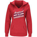 Montreal Canadiens Majestic Women's Backchecking Hoodie - Red