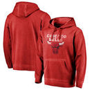 Chicago Bulls Fanatics Branded Distressed Logo Shadow Washed Pullover Hoodie - Red