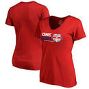 New York Red Bulls Fanatics Branded Women's 2017 MLS Cup Playoffs One Goal V-Neck T-Shirt – Red