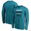San Jose Sharks Fanatics Branded Against The World Long Sleeve T-Shirt - Teal