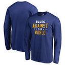 St. Louis Blues Fanatics Branded Against The World Long Sleeve T-Shirt - Royal