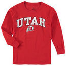 Utah Utes Fanatics Branded Youth Campus Long-Sleeve T-Shirt – Red