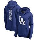 Clayton Kershaw Los Angeles Dodgers Fanatics Branded Women's Backer Pullover Hoodie - Royal