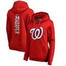 Bryce Harper Washington Nationals Fanatics Branded Women's Backer Pullover Hoodie - Red