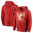 Calgary Flames Fanatics Branded Vintage Collection Old Favorite Shadow Washed Pullover Hoodie - Red