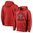 Florida Panthers Fanatics Branded Vintage Collection Old Favorite Shadow Washed Pullover Hoodie - Red