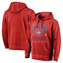 Montreal Canadiens Fanatics Branded Vintage Collection Old Favorite Shadow Washed Pullover Hoodie - Red