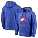 Quebec Nordiques Fanatics Branded Vintage Collection Old Favorite Shadow Washed Pullover Hoodie - Royal