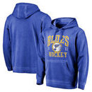 St. Louis Blues Fanatics Branded Vintage Collection Old Favorite Shadow Washed Pullover Hoodie - Royal