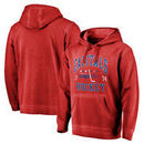 Washington Capitals Fanatics Branded Vintage Collection Old Favorite Shadow Washed Pullover Hoodie - Red