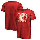 Calgary Flames Fanatics Branded Vintage Collection Old Favorite Shadow Washed T-Shirt - Red