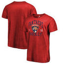Florida Panthers Fanatics Branded Vintage Collection Old Favorite Shadow Washed T-Shirt - Red