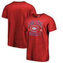 Montreal Canadiens Fanatics Branded Vintage Collection Old Favorite Shadow Washed T-Shirt - Red