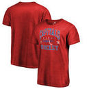Washington Capitals Fanatics Branded Vintage Collection Old Favorite Shadow Washed T-Shirt - Red