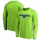 Seattle Seahawks NFL Pro Line by Fanatics Branded Alternate Team Logo Gear Flea Flicker Long Sleeve T-Shirt - Neon Green
