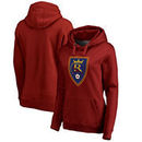 Real Salt Lake Fanatics Branded Women's Primary Logo Pullover Hoodie - Red