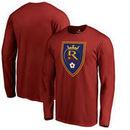 Real Salt Lake Fanatics Branded Primary Logo Long Sleeve T-Shirt - Red