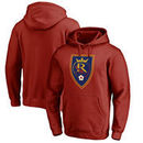 Real Salt Lake Fanatics Branded Primary Logo Pullover Hoodie - Red