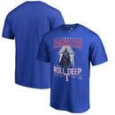 Texas Rangers Fanatics Branded Roll Deep with the Empire T-Shirt - Royal