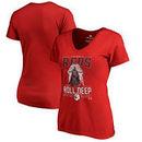 Cincinnati Reds Fanatics Branded Women's Roll Deep with the Empire V-Neck T-Shirt - Red