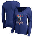 New York Mets Fanatics Branded Women's Roll Deep with the Empire Long Sleeve T-Shirt - Royal