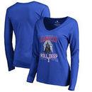 Texas Rangers Fanatics Branded Women's Roll Deep with the Empire Long Sleeve T-Shirt - Royal