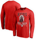 Cincinnati Reds Fanatics Branded Roll Deep with the Empire Long Sleeve T-Shirt - Red