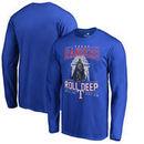 Texas Rangers Fanatics Branded Roll Deep with the Empire Long Sleeve T-Shirt - Royal