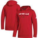 Louisville Cardinals adidas Sideline Wordmark Pullover Hoodie – Red