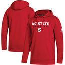 NC State Wolfpack adidas Sideline Wordmark Pullover Hoodie – Red