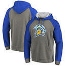San Jose State Spartans Fanatics Branded Primary Logo Tri-Blend Raglan Pullover Hoodie - Heathered Gray
