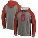 Stanford Cardinal Fanatics Branded Primary Logo Tri-Blend Raglan Pullover Hoodie - Heathered Gray