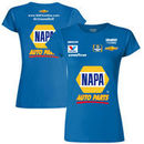 Chase Elliott Hendrick Motorsports Team Collection Women's NAPA Uniform T-Shirt – Royal