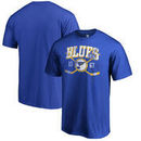 St. Louis Blues Fanatics Branded Vintage Collection Line Shift Big and Tall T-Shirt - Blue
