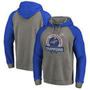 Los Angeles Dodgers Fanatics Branded 2017 National League Champions Fly Ball Tri-Blend Raglan Pullover Hoodie - Heather Gray