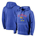 Kansas Jayhawks Fanatics Branded Vault Arch Over Logo Shadow Washed Pullover Hoodie - Royal